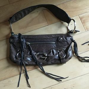 GUESS Small Brown Leather Shoulder or Handbag